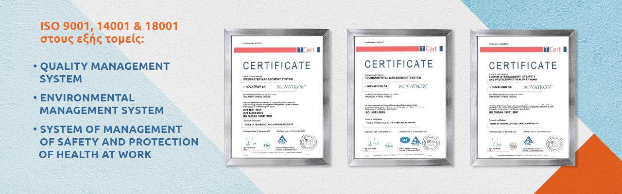 ISO 9001, 14001, 18001