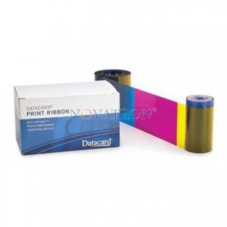 Datacard 534100-001-R004: Έγχρωμή μελανοταινία 250 όψεων με διαφανή επίστρωση για εκτυπωτή SD160