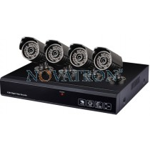 Bionics IP BULLET KIT: Σετ με 4 HD IP Κάμερες PoE 720p με Νυχτερινή Λήψη έως 20μ. + Καταγραφικό 4 channels 720p + 4 Καλώδια UTP 20μ.