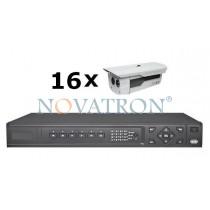Bionics K416: Σετ Κλειστού Κυκλώματος Τηλεόρασης (CCTV): 16 αδιάβροχες κάμερες 600 TVL, με νυχτερινή λήψη έως 50μ. + καταγραφικό (DVR) 16 καναλιών Full D1 + 16 καλώδια 18 μ.