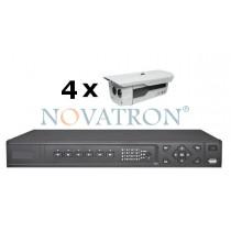 Bionics K404: Σετ Κλειστού Κυκλώματος Τηλεόρασης CCTV: 4 Αδιάβροχες Αναλογικές Κάμερες 600 TVL με Νυχτερινή Λήψη έως 50μ. + Καταγραφικό (DVR) Full D1+ 4 Καλώδια 18μ.