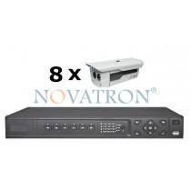 Bionics K408: Σετ Κλειστού Κυκλώματος Τηλεόρασης (CCTV): 8 αδιάβροχες κάμερες 600 TVL με νυχτερινή λήψη έως 50μ. + καταγραφικό (DVR) 8 καναλιών Full D1 + 8 καλώδια 18μ.