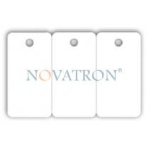 CR80-T: Λευκές πλαστικές κάρτες σε τριπλέτα τύπου μπρελόκ