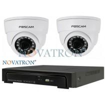 Foscam FI9851  Bionics Pro4: Σετ κλειστού κυκλώματος, 2 IP κάμερα HD (720P) καταγραφικό (NVR) 4 καναλιών