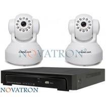 Foscam FI9816 Bionics Pro4: Σετ κλειστού κυκλώματος, 2 IP κάμερα HD (720P) καταγραφικό (NVR) 4 καναλιών