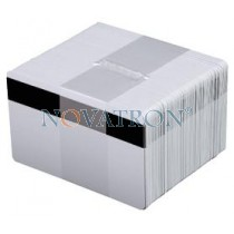CR80-H: Λευκές πλαστικές κάρτες με μαγνητική ταινία HiCo