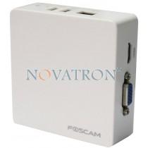 Foscam FN3004H white: Μικρό δικτυακό καταγραφικό (NVR) για 4 IP κάμερες έως 960P, MJPEG και HD - Λευκό