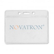 Clear Vinyl Badge Holder (9,2cm x 5,9cm)