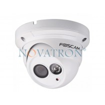 Foscam FI9853EP: Color IP Dome Camera, HD (720p), PoE Ethernet, H.264, Night Vision (up to 20m.) – White