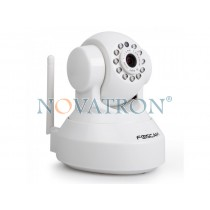 Foscam FI9816P White: Pan/Tilt Color IP Camera, HD (720p), WiFi/Ethernet, H.264, Night Vision (up to 8m.), microSD Card – White