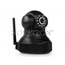Foscam FI9816P Black: Pan/Tilt Color IP Camera, HD (720p), WiFi/Ethernet, H.264, Night Vision (up to 8m.), microSD Card – Black