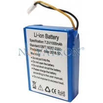 Rechargeable Li-ion battery for the Safenote S2 counter detector