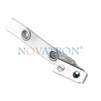 Nickel-plated steel 2-Hole ID Badge Strap Clip