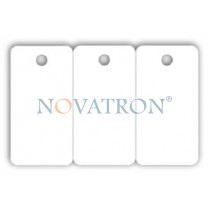 CR80-T: Blank white triple PVC key tag