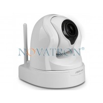 Foscam FI9826P: Pan/Tilt Color IP Camera, HD (720p), 3x optical zoom, WiFi/Ethernet, H.264, Night Vision (up to 8m.), SD Card White