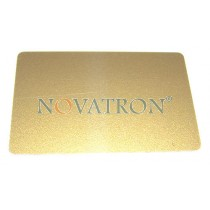 CR80-G: Gold Silkscreen Blank PVC Cards