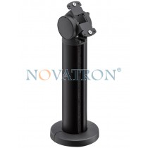 Novus Retail System Base 200 Connect: aluminum column anthracite anodised  with joint for connect plates - 20cm