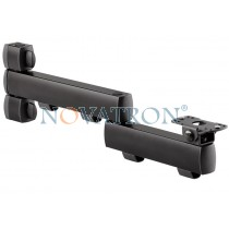 Novus Retail System Connect L 380 D: 2-part support arm 450mm for connect plates (downwards assembled)