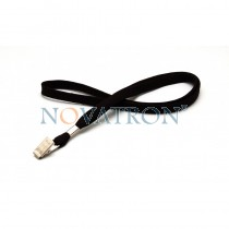 Black Lanyard with a bulldog clip