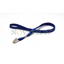 Blue Lanyard with a bulldog clip