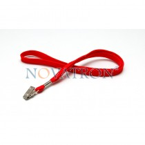 Red Lanyard with a bulldog clip