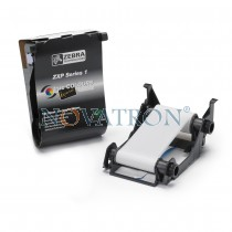 Zebra 800011-109 White: White Ribbon 500 prints/roll. Compatible with Zebra ZXP1 Printer.