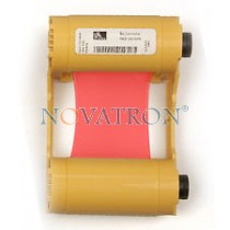 Zebra 800033-802: Red Ribbon 1000 prints/roll. Compatible with Zebra ZXP3 Printer.